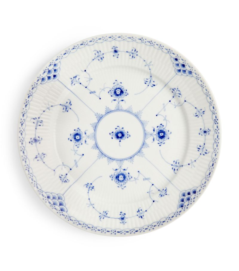 Royal Copenhagen Blue Fluted Half Lace Plate (22Cm)