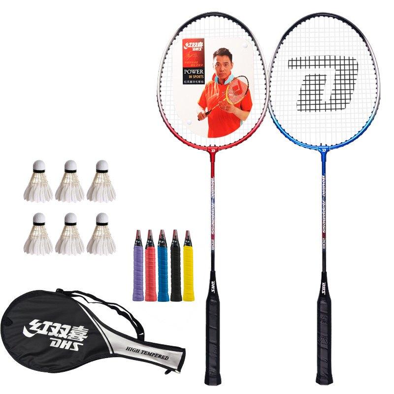 羽毛球拍套裝雙拍耐用型全碳素超輕單成人耐打