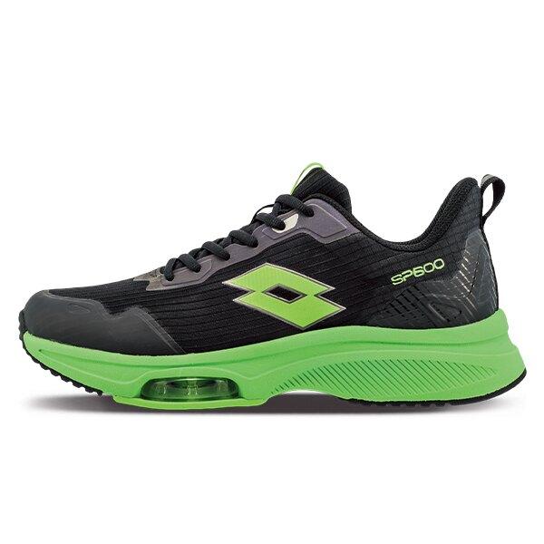 【滿額再折$100】LOTTO樂得-義大利第一品牌 男款SP600 前掌氣墊跑鞋 [LT1AMR3015] 黑綠【巷子屋】