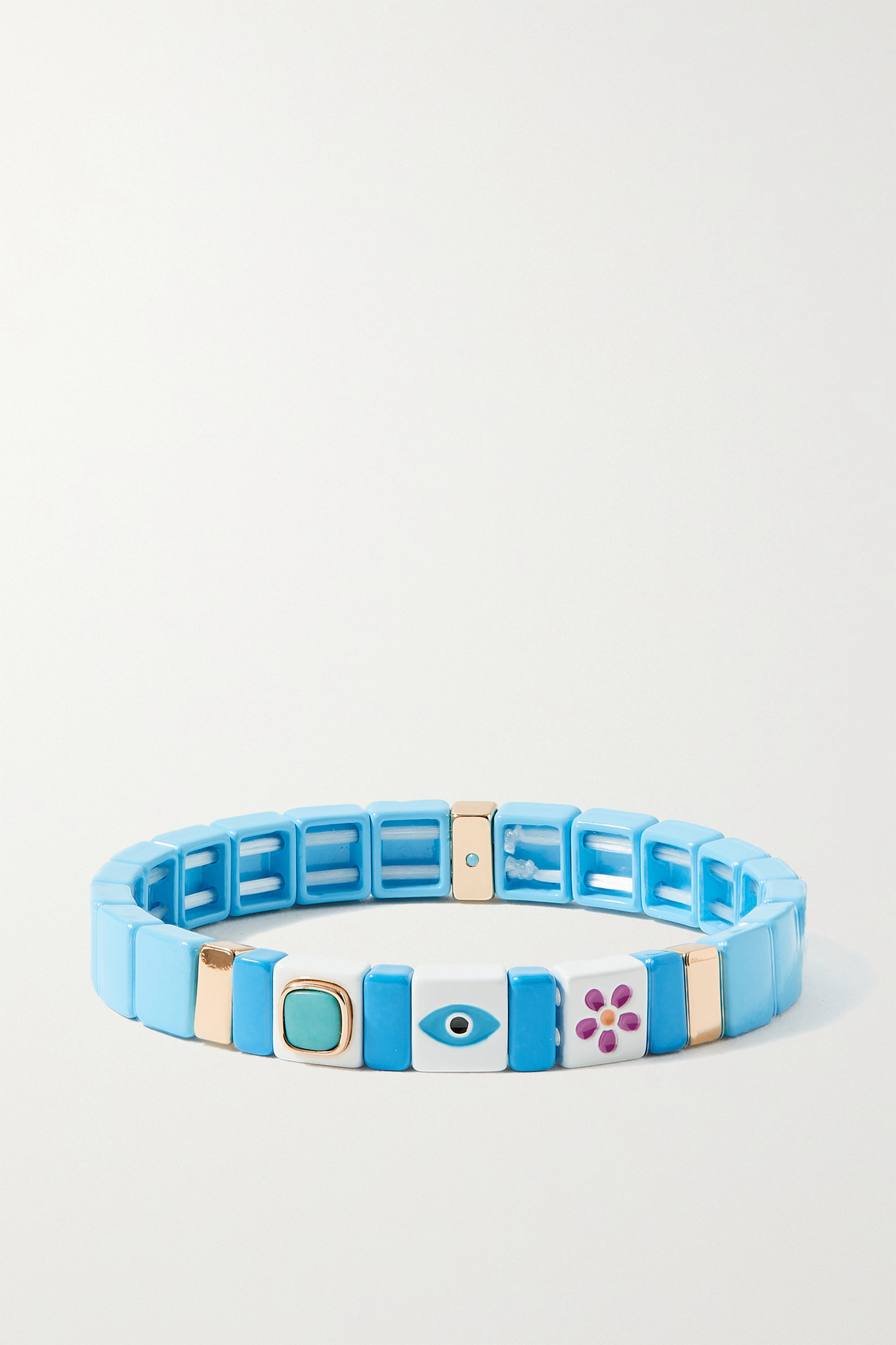 ROXANNE ASSOULIN - Icon Stay Safe Enamel And Gold-tone Bracelet - Blue - one size