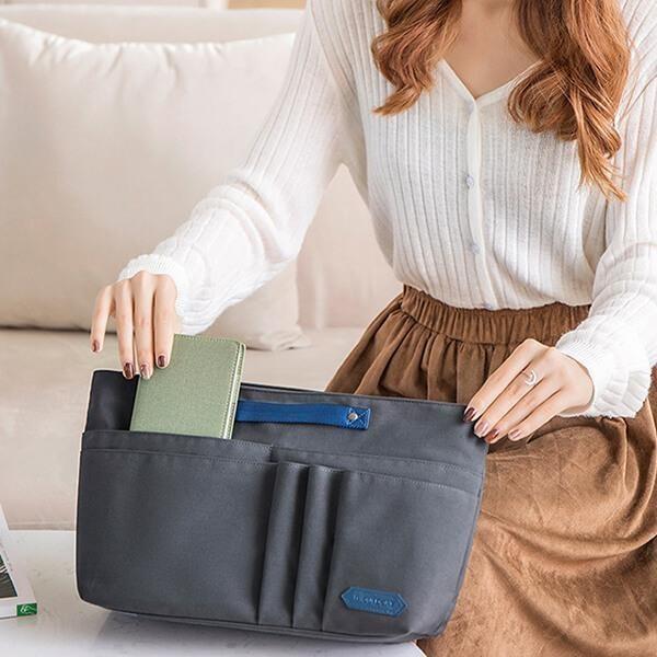夏日時光--馬卡龍色系包中包旅行收納包內膽包
