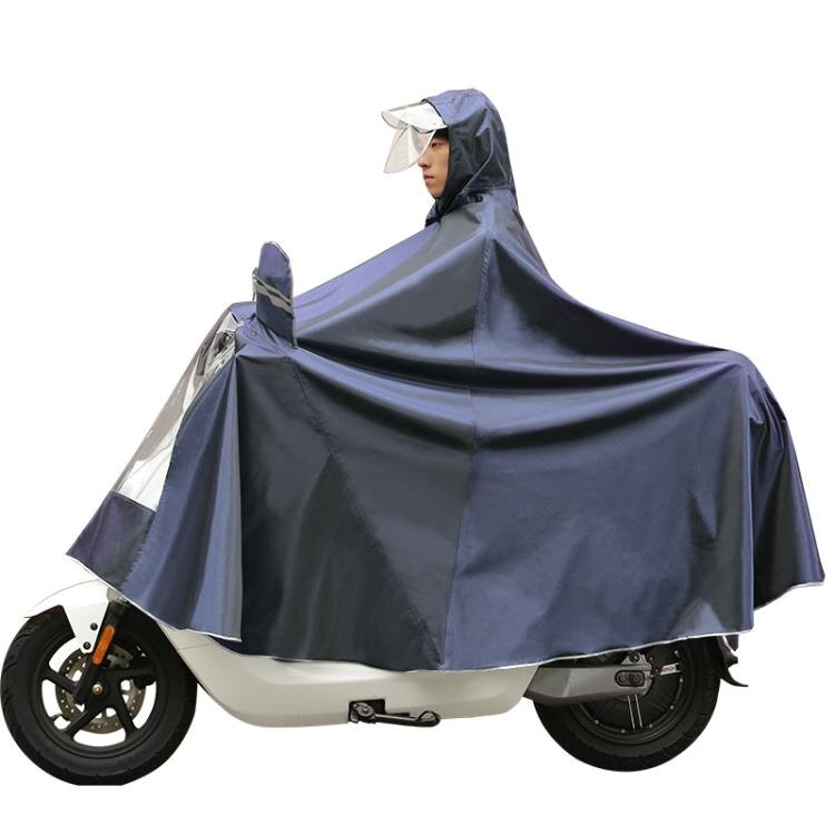 雨衣 摩托電動電瓶車雨衣女男遮臉騎行防水單人雙人加大加厚防專用雨披特惠促銷
