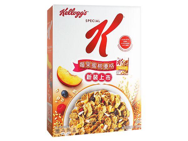 家樂氏 Kellogg's~Special K莓果蜜桃優格穀物早餐(297g)【DS000596】