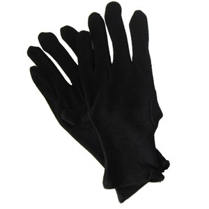 【一品川流】純棉黑手套-M-12雙入