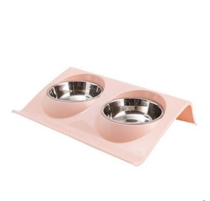 寵物碗 貓碗雙碗狗碗狗盆貓食盆貓碗保護頸椎貓咪碗貓糧碗食盆寵物碗雙碗【快速出貨八折下殺】