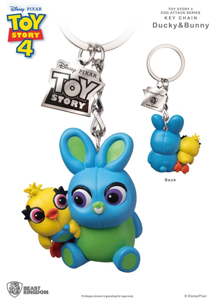 玩具總動員4 蛋擊公仔鑰匙圈系列 鴨霸與兔崽子款