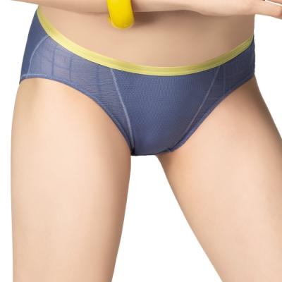 思薇爾 超洞感系列M-XXL低腰三角內褲(紺青藍)