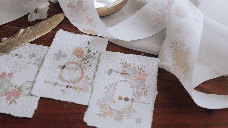 可可愛糖果色 和紙膠帶(特油含離型紙)