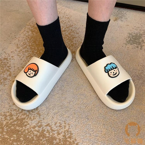 軟底拖鞋女居家用厚底防滑室內可愛卡通情侶涼拖夏【宅貓醬】