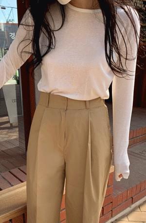 韓國空運 - Base thin fit long-sleeved tee 長袖上衣