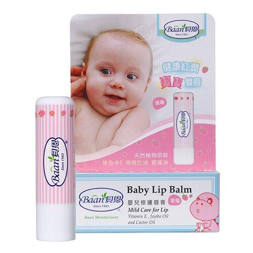 美生藥局|【Baan貝恩】嬰兒修護唇膏 5g