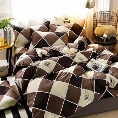 A-ONE 雪紡棉 單人床包/枕套二件組-寶盒