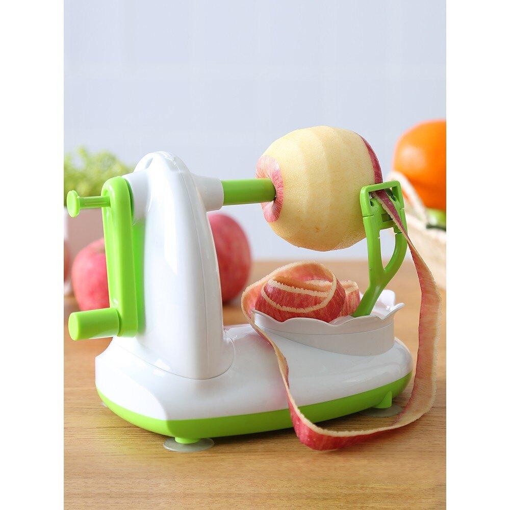 手搖削皮器 削皮刀多功能三合一手搖自動去皮器家用廚房刮皮水果刀削蘋果神器 艾琴海小屋