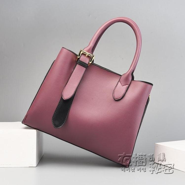 女士包包時尚大氣新款中年媽媽包簡約大容量手提包單肩斜背包 年終鉅惠 果果輕時尚
