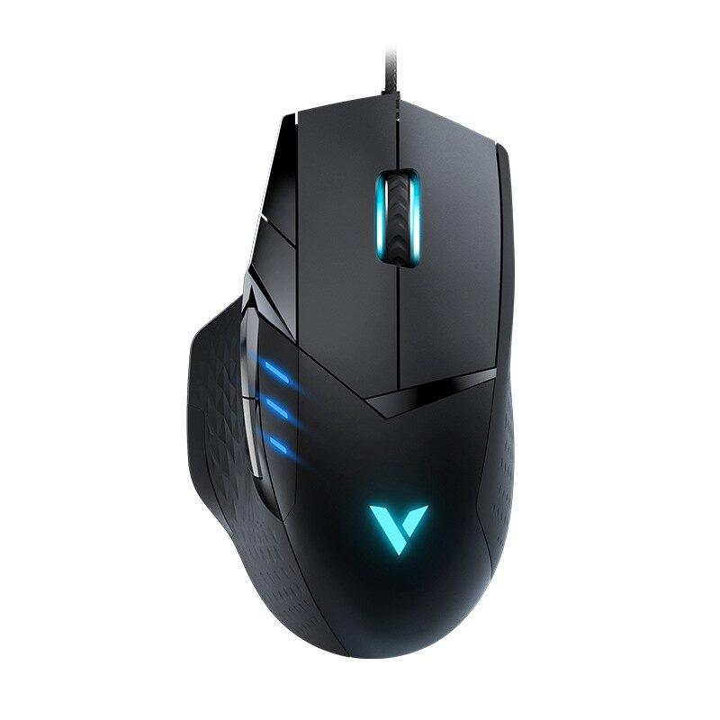 雷柏VT300游戲滑鼠電競有線可編程按鍵吃雞滑鼠