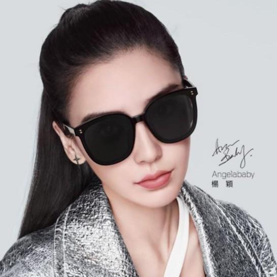 陌森Angelababy代言21年新款太陽眼鏡時尚潮流黑色大框墨鏡 MS3012 C10【預購下單區】