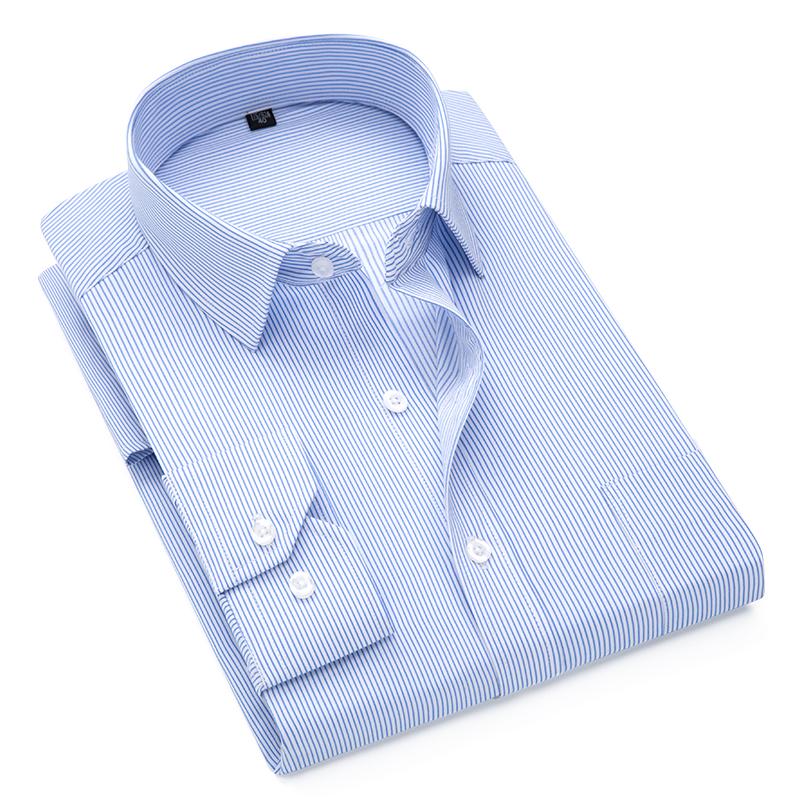 男士襯衫 45-48碼 加大尺碼商務襯衫 斜紋抗皺免燙長袖襯衣 素色簡約百搭工作職業上衣 現貨 男生衣著