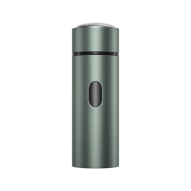 時尚迷你USB充電全身水洗電子三刀頭充電式單頭青