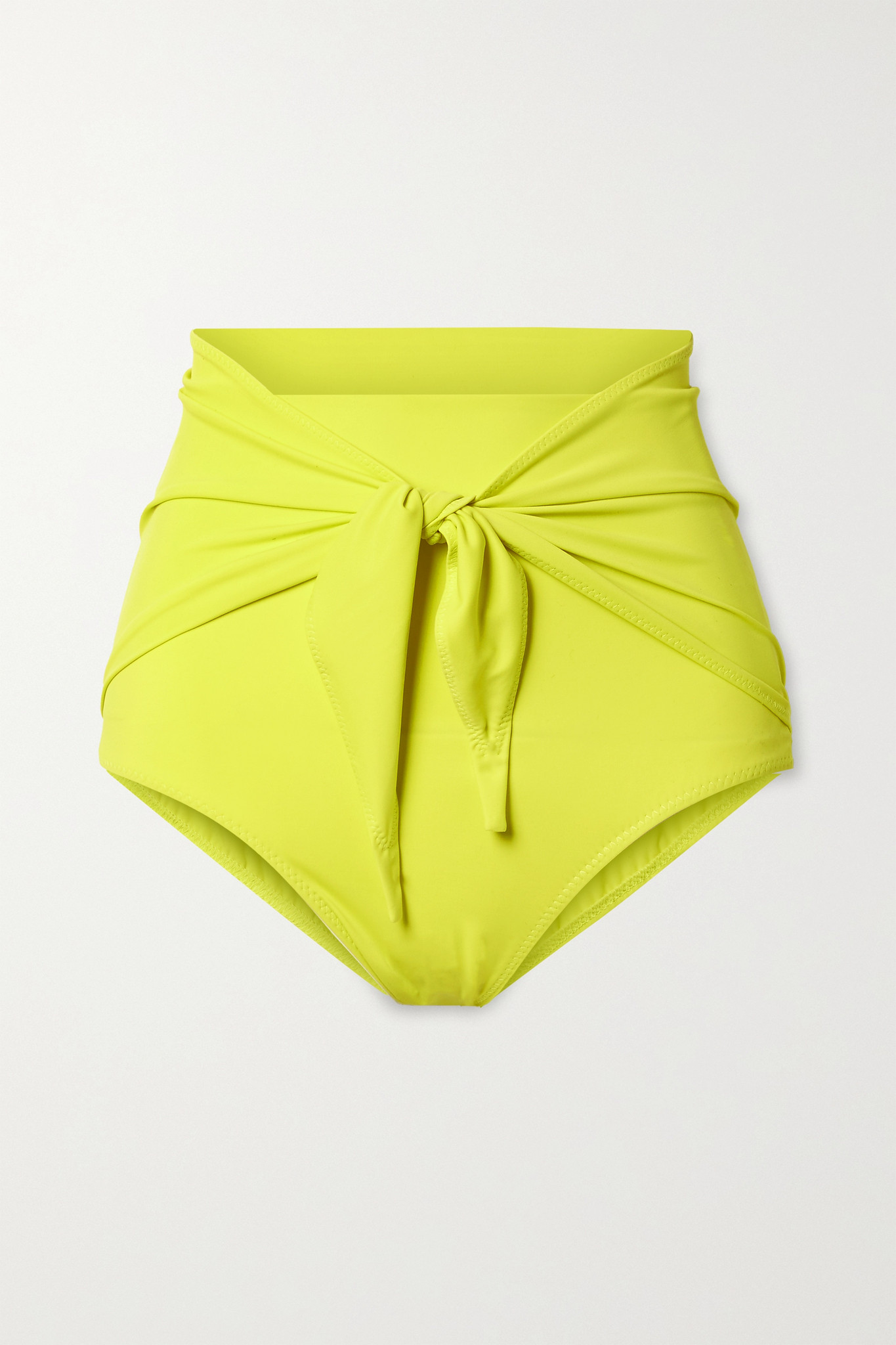 NORMA KAMALI - 正面系带比基尼三角裤 - 黄色 - x small