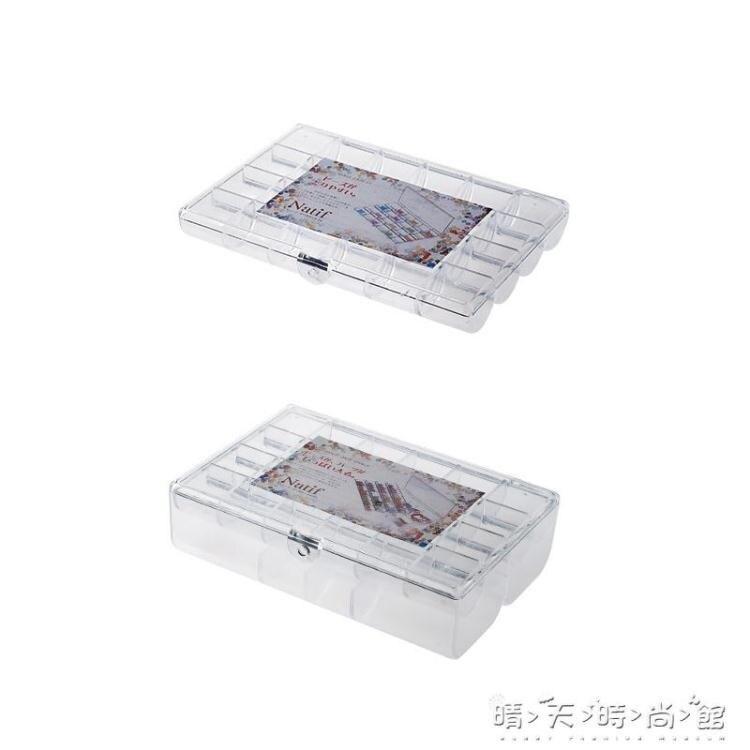 日本進口首飾收納盒透明塑料飾品盒耳環項錬戒指分格儲物盒首飾盒 果果輕時尚