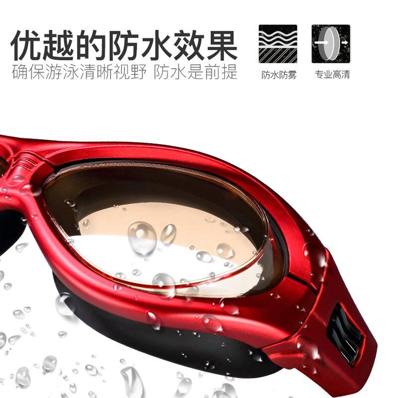 Jast泳鏡防水防霧高清女士大框游泳眼鏡男泳鏡泳帽套