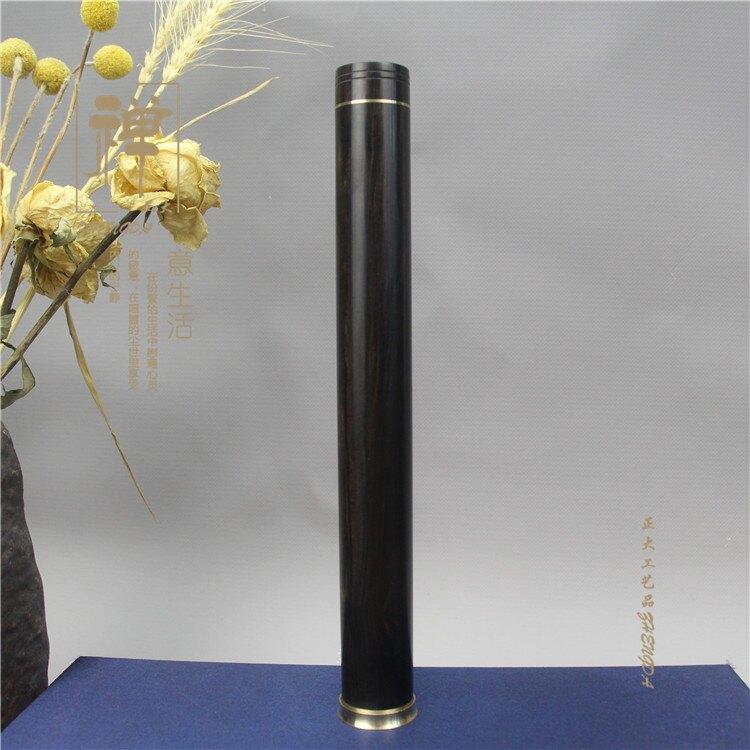 黑檀木大號黃銅香桶 木質線香筒臥香管 便攜點香器香爐
