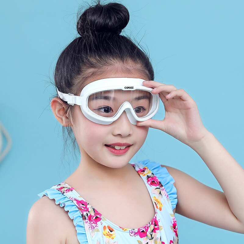 COPOZZ兒童泳鏡高清防水防霧大框男童女童潛水游泳