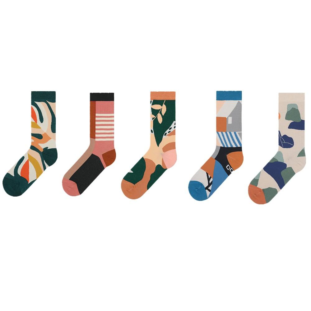 大唐襪業 D210新品臆想空間系列文藝清新古風女襪潮男士純棉襪子情侶中筒襪