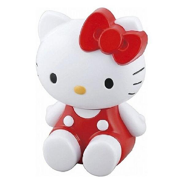 小禮堂 Hello Kitty 造型LED塑膠夜燈 床頭燈 夜光燈 裝飾燈 桌燈 (紅白 坐姿) 4972940-73145