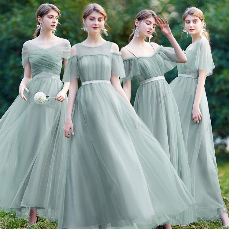 伴娘禮服 伊莎貝爾伴娘禮服女仙氣質新長款簡約顯瘦姐妹裙姐妹團禮服春-莎韓依