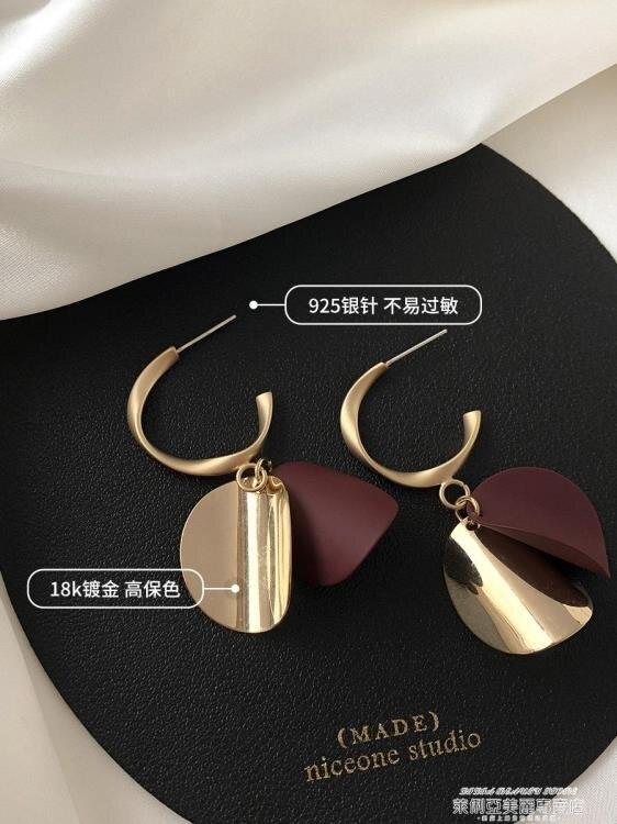 耳環 小眾設計感夸張耳環2021年新款潮復古氣質高級感耳夾無耳洞耳飾女 全館八五折