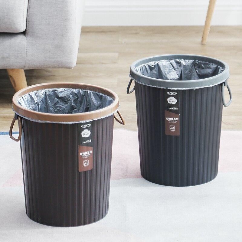 廚房垃圾桶大號家用大容量廁所衛生間客廳創意黑色辦公室無蓋商用