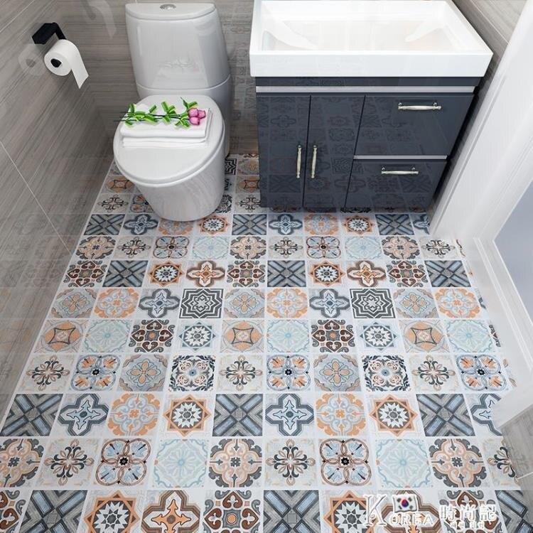 地板貼自粘浴室衛生間防水地貼地磚廚房防油地面瓷磚貼紙廁所防滑