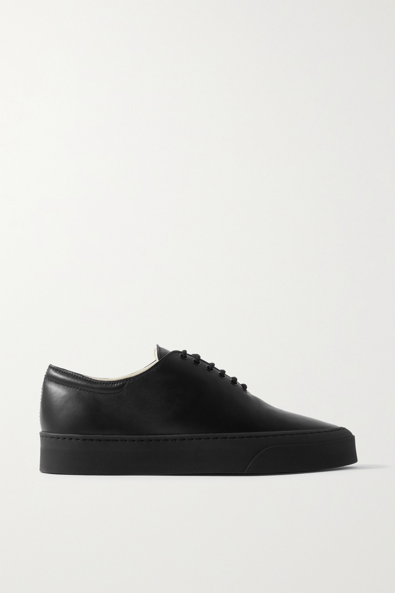 THE ROW - Marie H Leather Sneakers - Black - IT38
