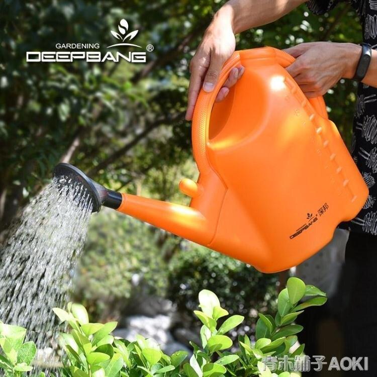 深邦灑水壺長嘴澆花家用加厚種菜大號澆水壺塑膠淋水撒水壺花灑壺