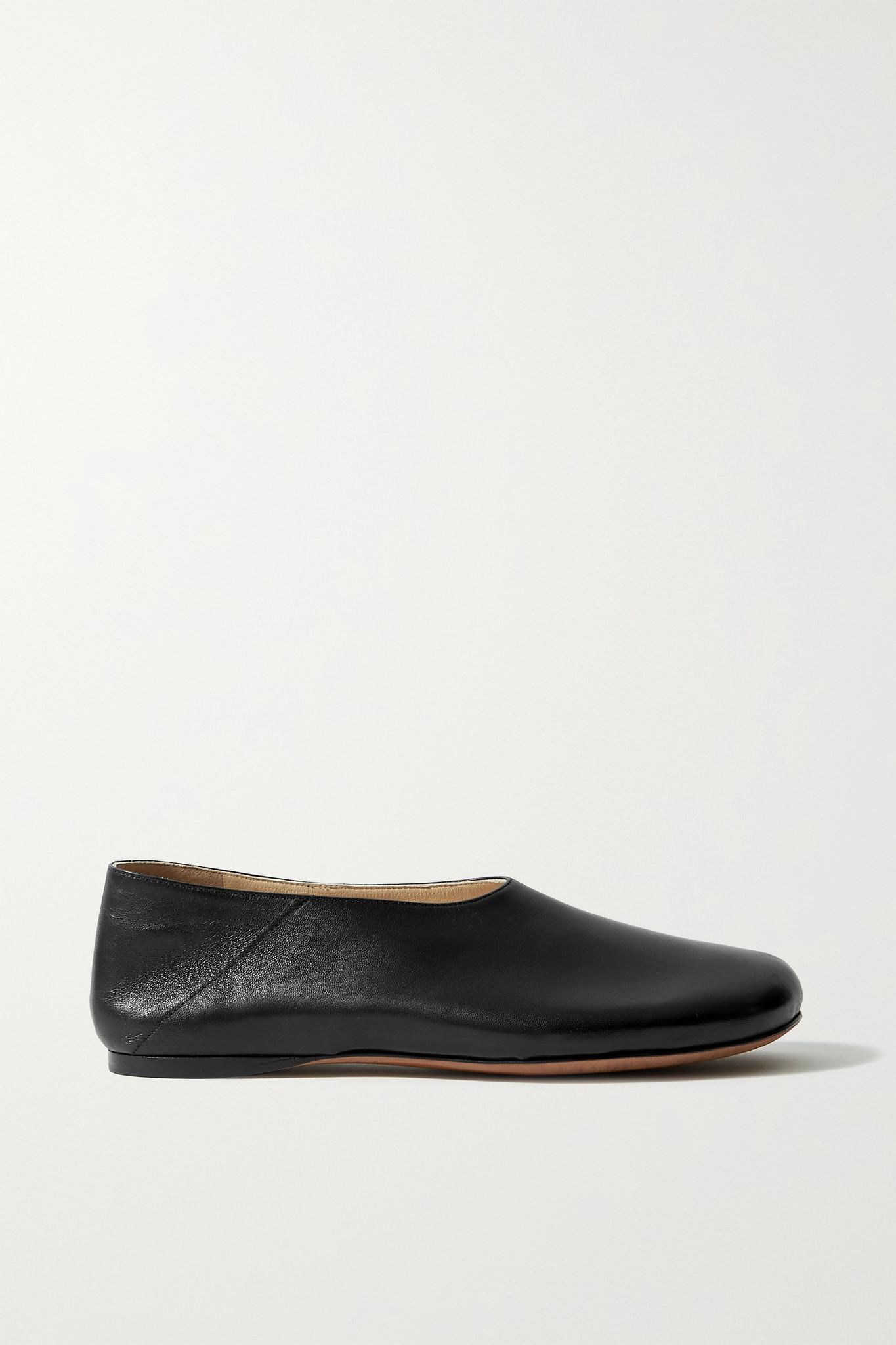 PROENZA SCHOULER - Rondo Leather Ballet Flats - Black - IT39