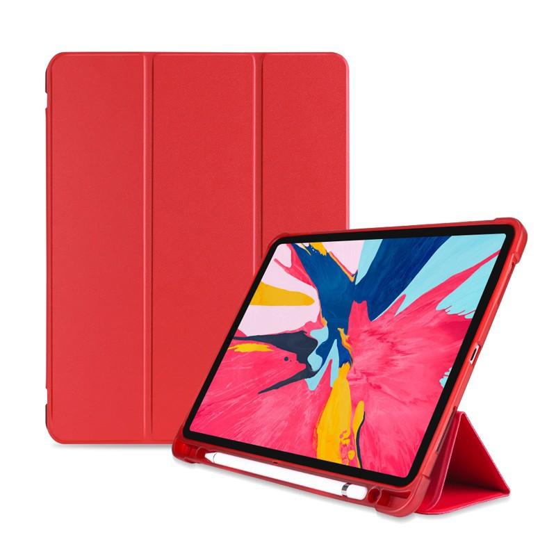 Apple蘋果2019/2020版 iPad 10.2吋高質感TPU筆槽三折連體保護皮套-YU004 廠商直送 現貨