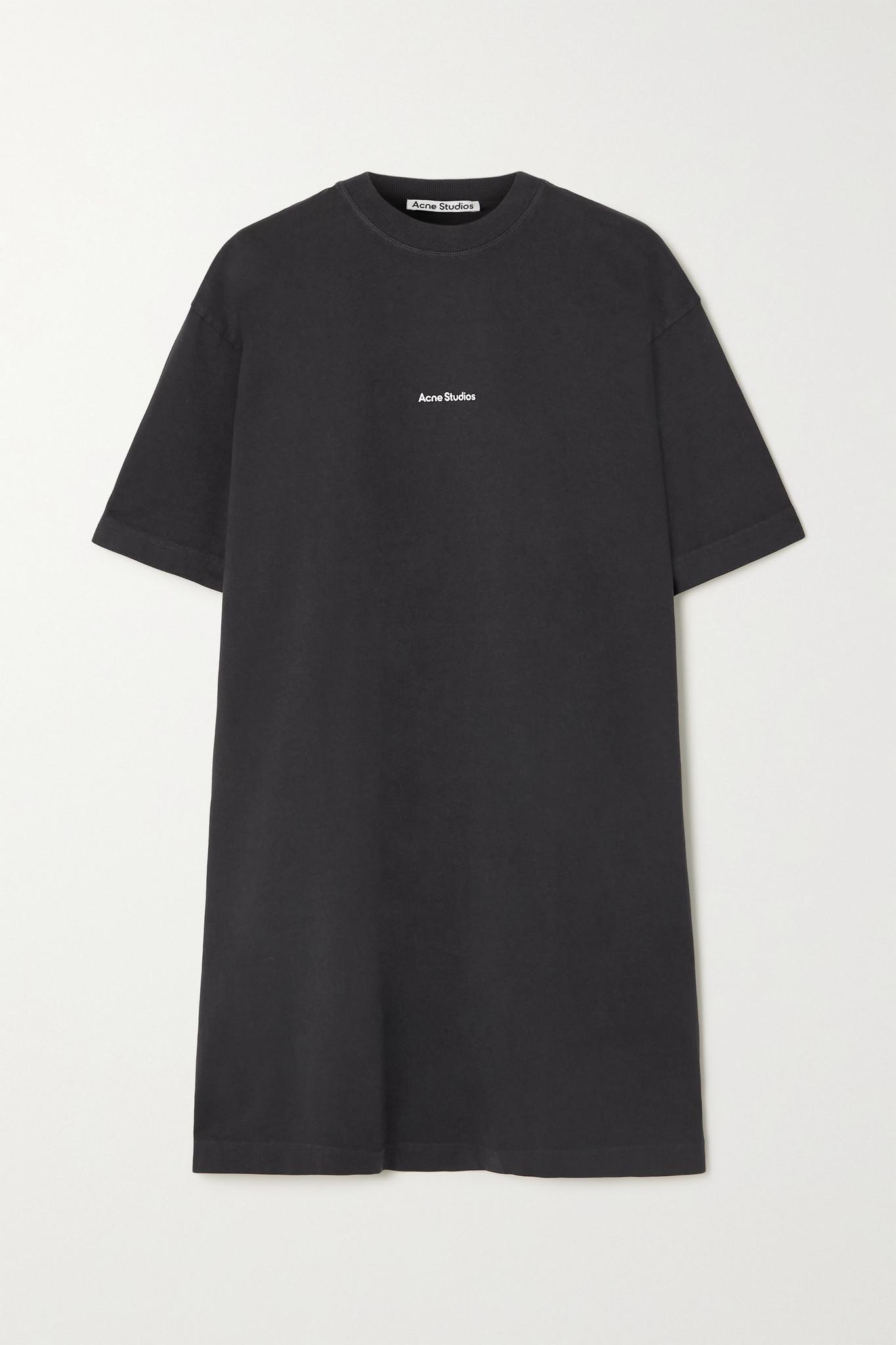 ACNE STUDIOS - + Net Sustain Printed Organic Cotton-jersey Mini Dress - Black - medium