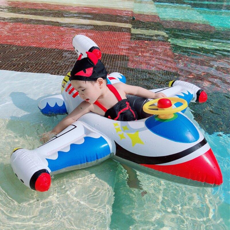 特厚嬰幼兒童游泳圈寶寶方向盤坐圈1-3-5歲水上充氣玩具小孩浮圈