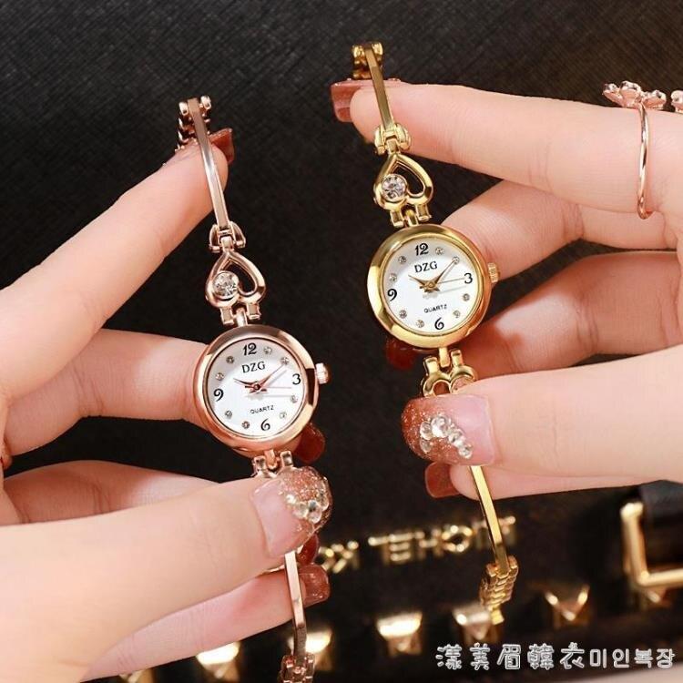 新款手鏈表女學生韓版簡約時尚水鉆女表手鏈式小表盤手鐲表便宜的