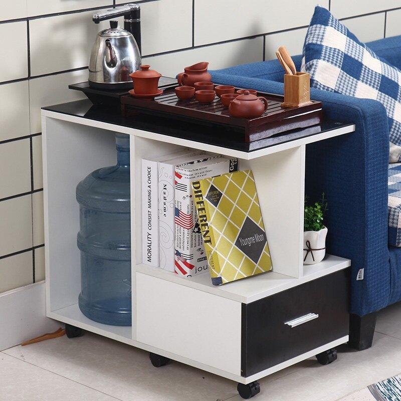 簡約新款經濟型現代客廳小戶型沙發邊幾輕奢邊櫃扶手幾帶輪茶桌