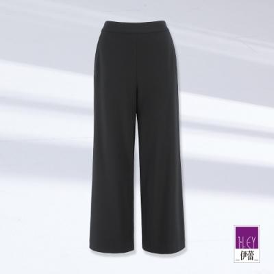 ILEY伊蕾 素面彈性修身寬褲(黑)1211026731