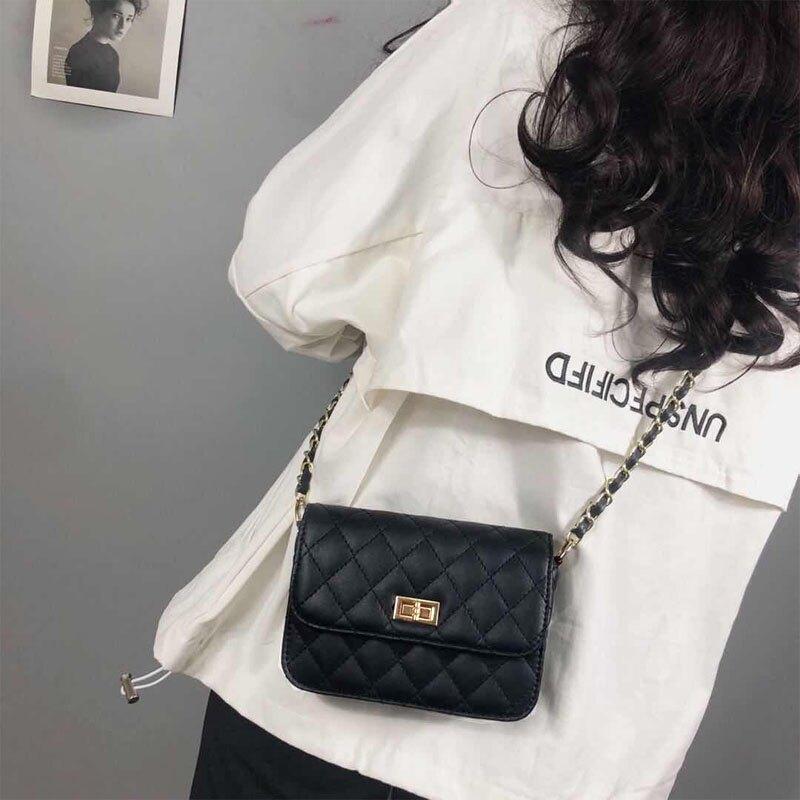 小香風菱格鏈條包包女2021新款潮百搭斜挎包chic迷你韓版小包
