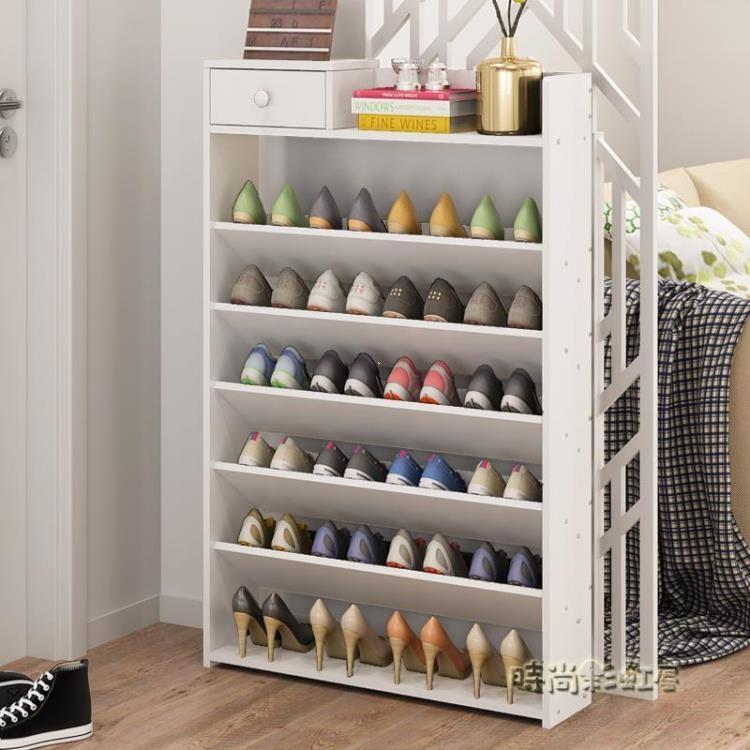 鞋架簡易家用多層鞋櫃經濟型組裝防塵鞋架子宿舍鞋架大容量省空間lgo