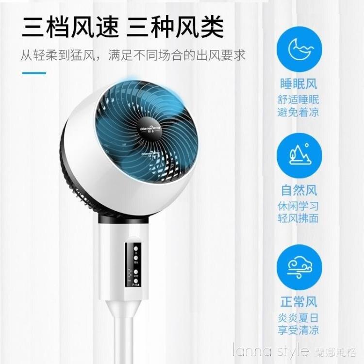新款空氣循環扇家用電風扇落地扇靜音臺扇搖頭渦輪對流扇 全館新品85折