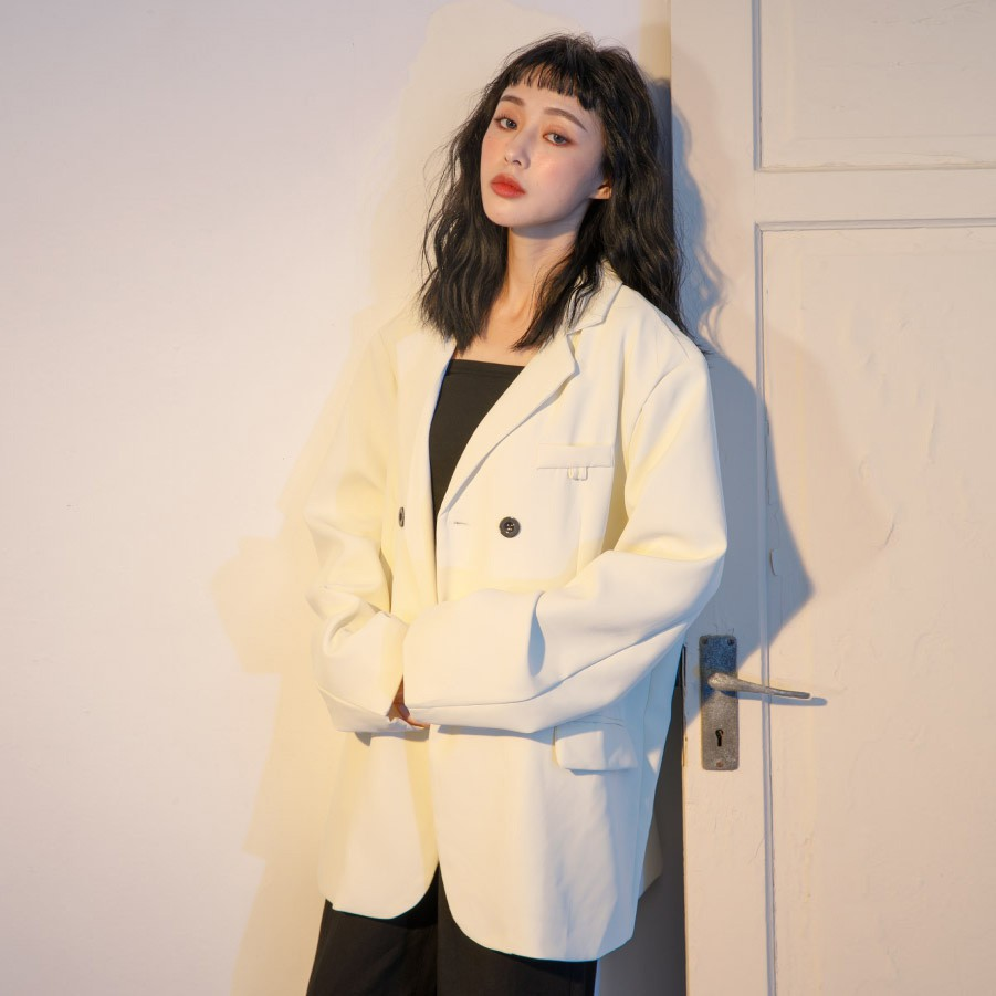 X.O.X.O. 春季寬鬆可拆式鏈條西裝外套