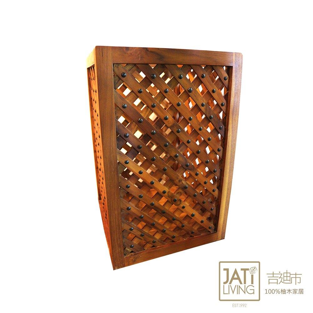 【吉迪市柚木家具】木條銅釘造型收納箱 傘桶 傘架 雨傘收納 置物架 復古 100%柚木製 保固一年 RPOT007
