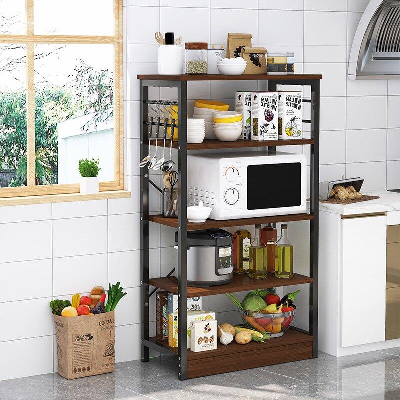 廚房電器架 廚房置物架落地式多層收納架碗架用品家用大全微波爐調料儲物架子【TZ123】
