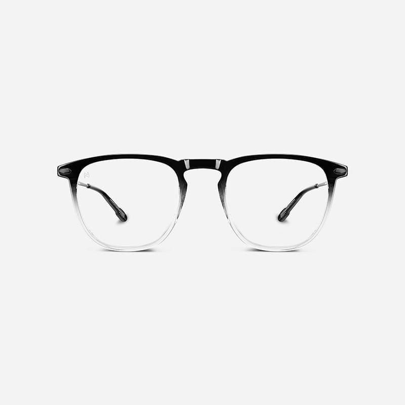 時尚造型老花眼鏡-鏡腳便攜款(矩形-雙色漸變-黑色透明) 100