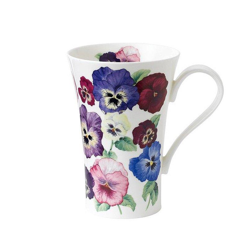 英國 Roy kirkham草原系列 - 600ml骨瓷拿鐵杯(三色堇)